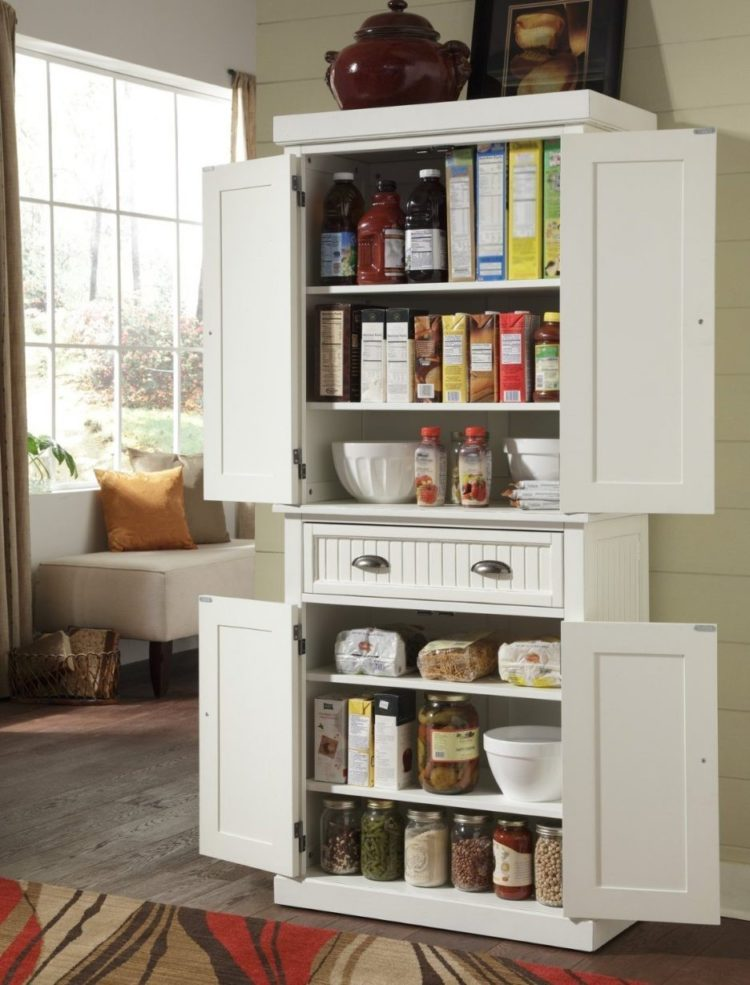 pantry cabinet dark wood