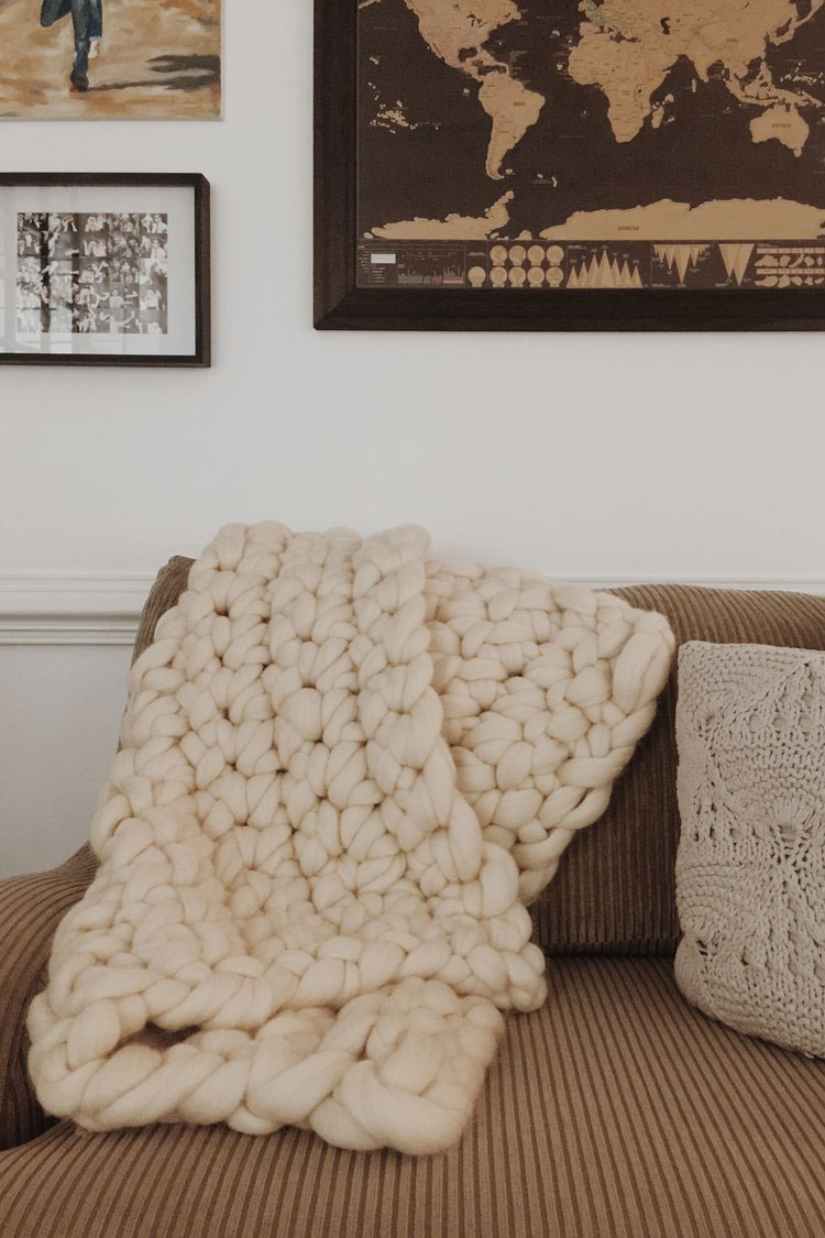 crochet blanket diagonal stripes