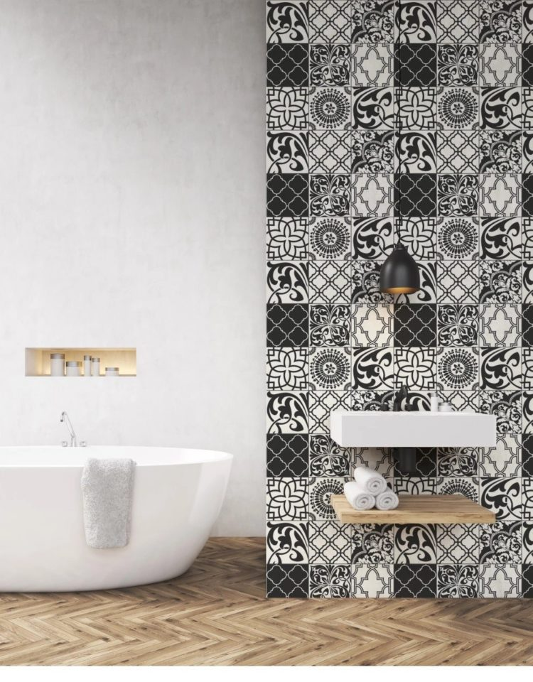 peel and stick tile for bathroom walls