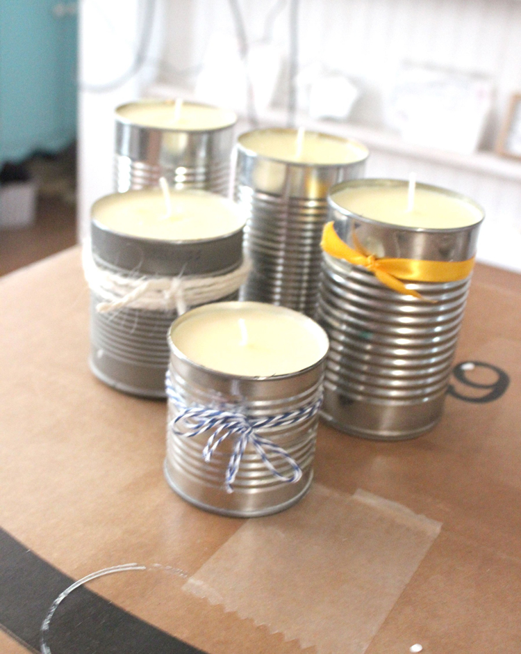 citronella candles in jars