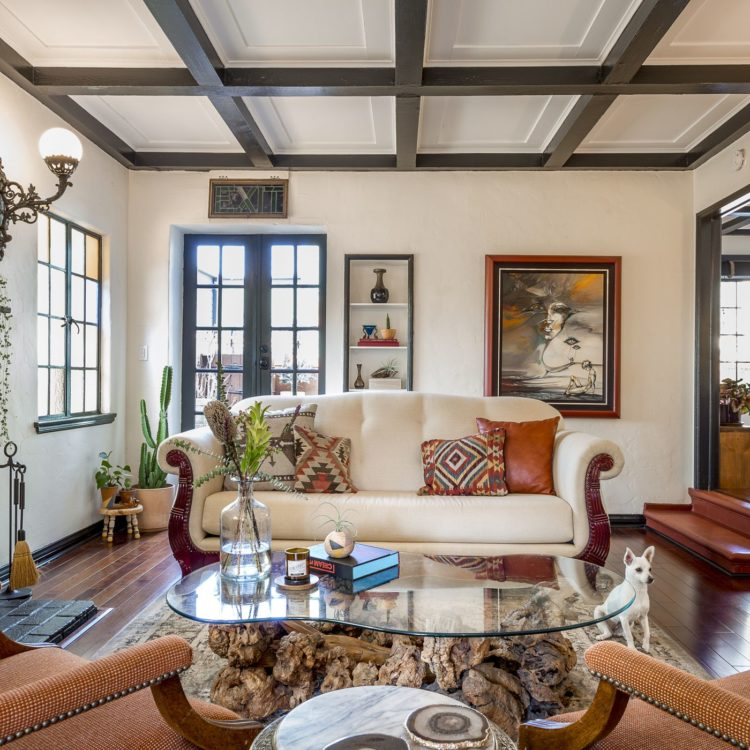coffered ceiling vs box beams