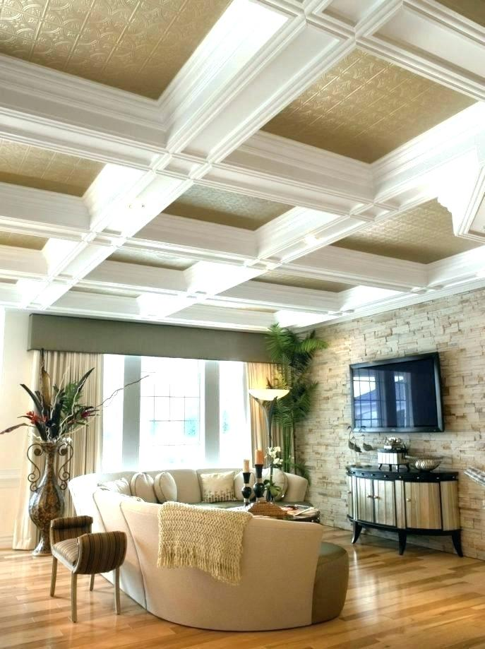 2x6 coffered ceiling