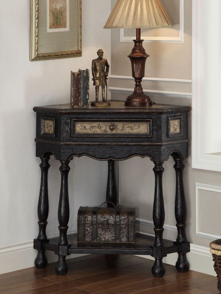 corner table for two twin beds