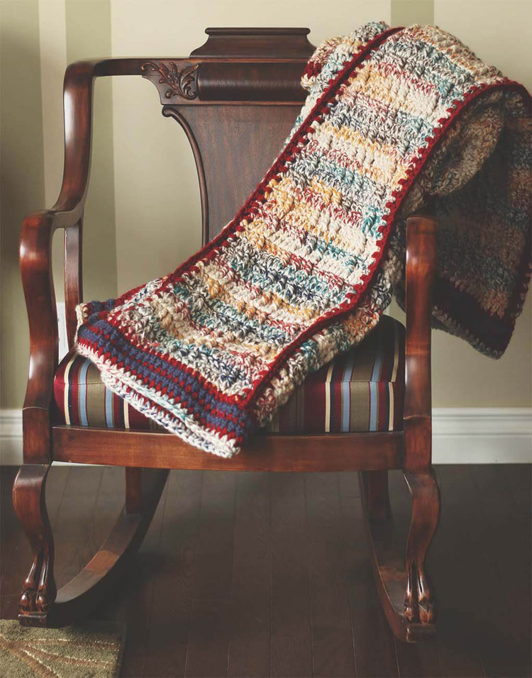 crochet blanket least yarn