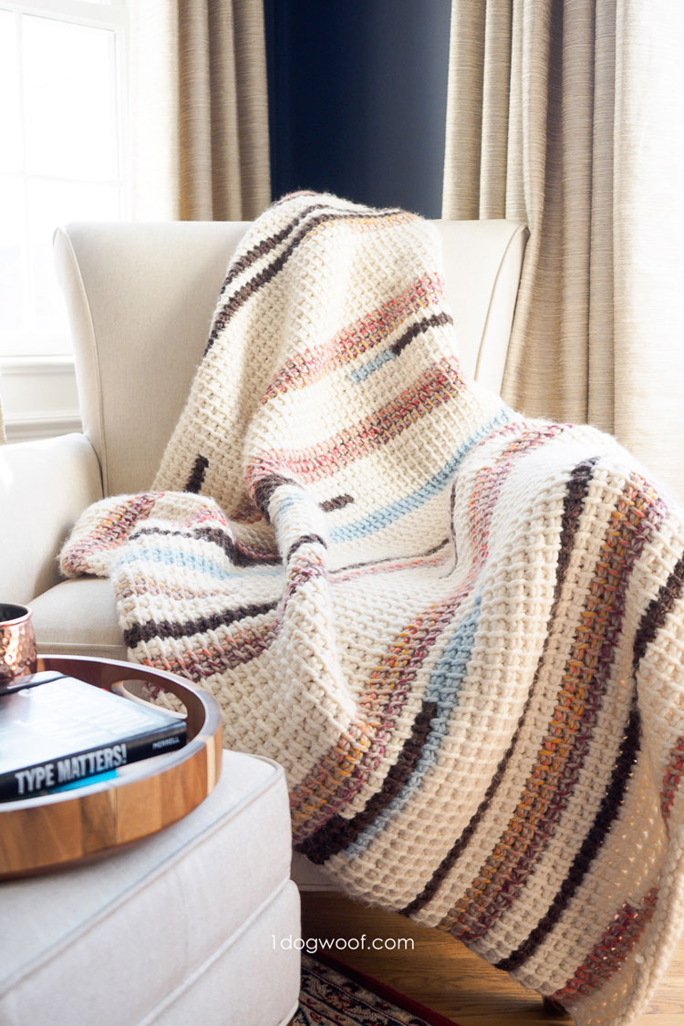 crochet blanket left handed