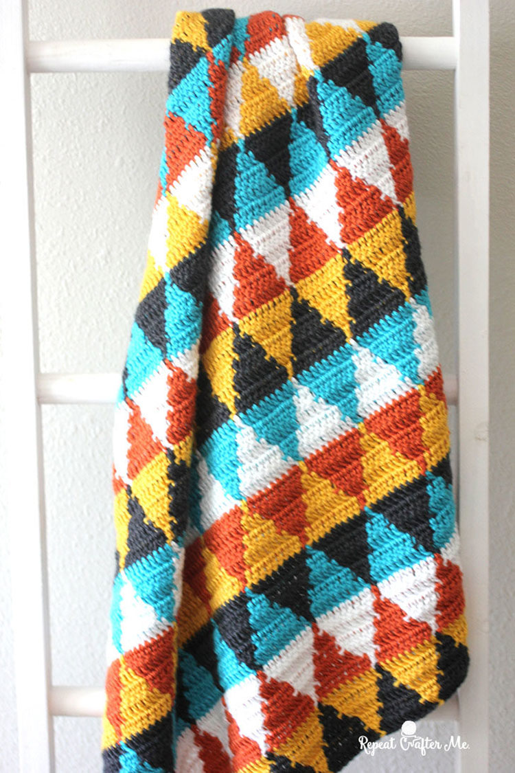 crochet blanket j hook