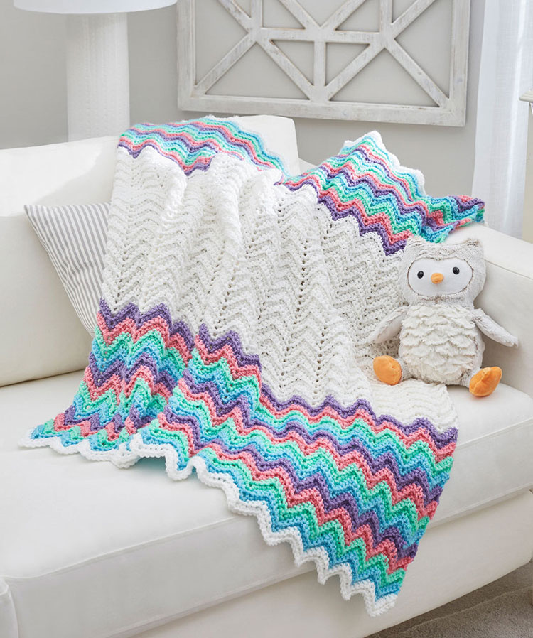 crochet blanket is curling