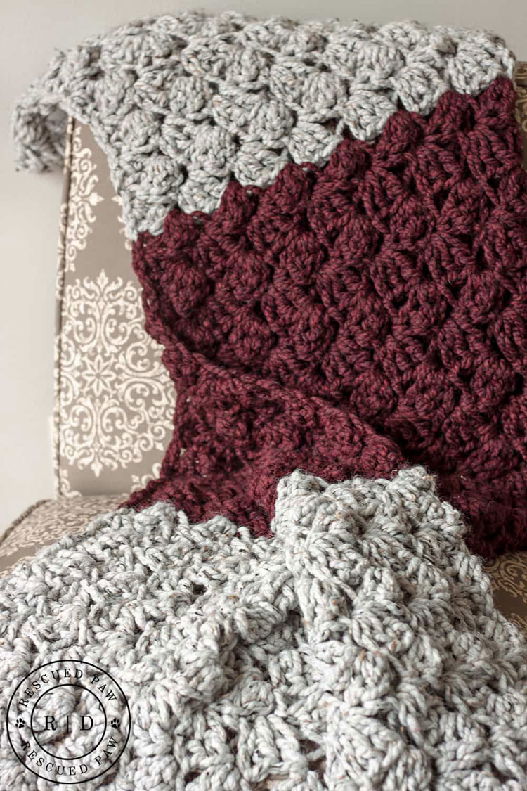 crochet blanket getting wider
