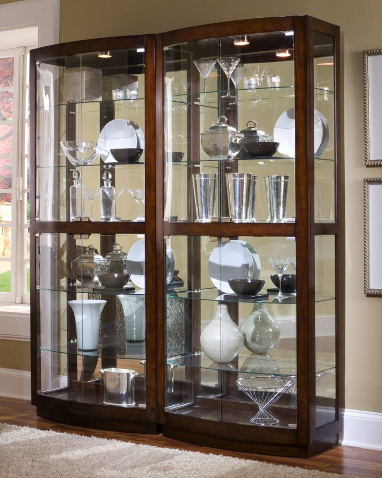 curio cabinet for wall