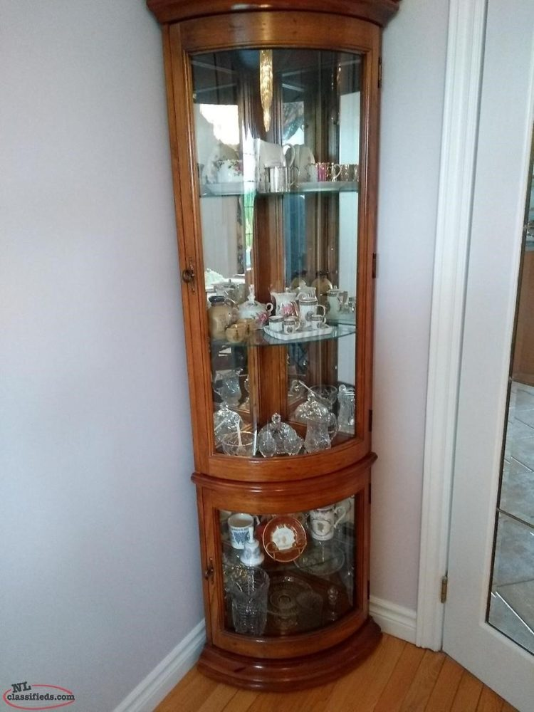 curio cabinet glass doors