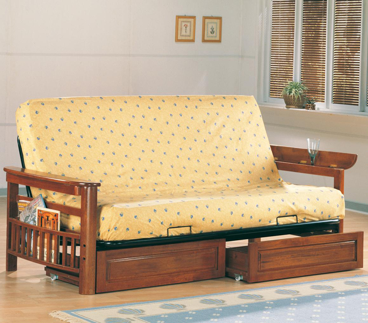 futon bed on wheels