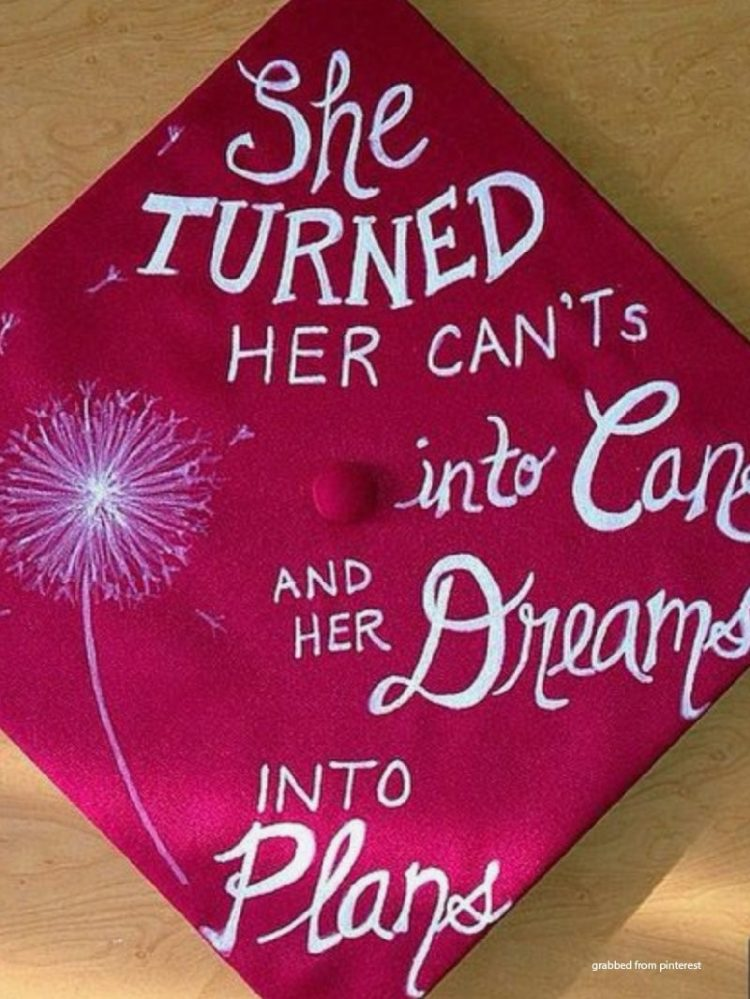 graduation cap flowers