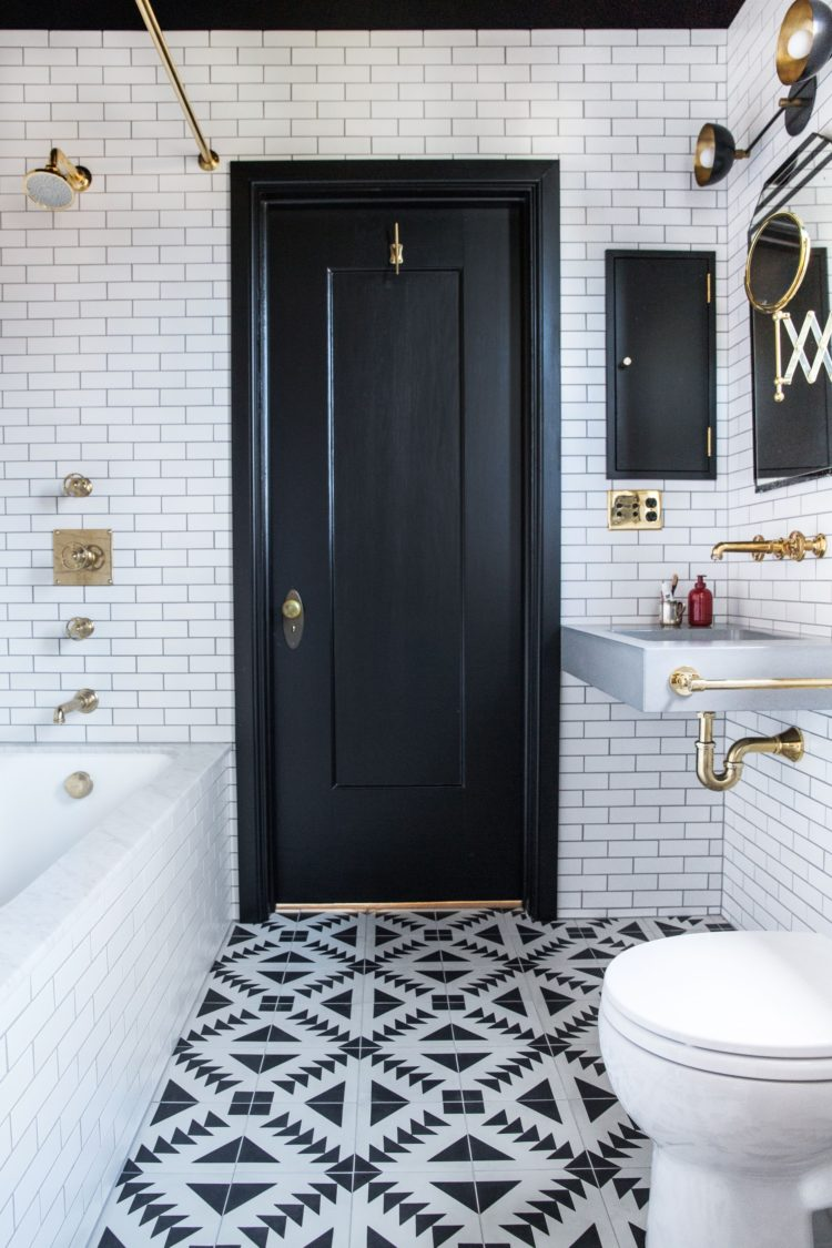 subway tile floor