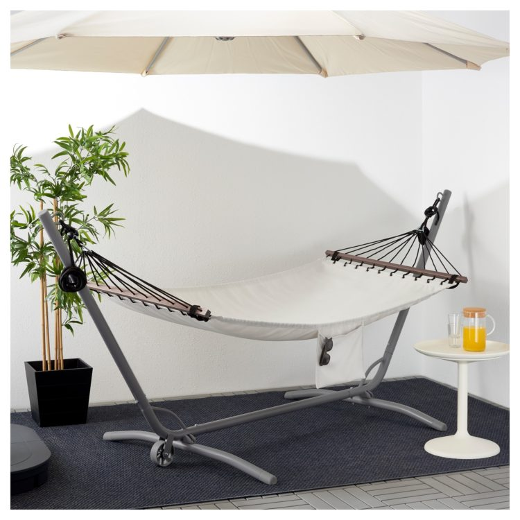 double quilted hammock with stand