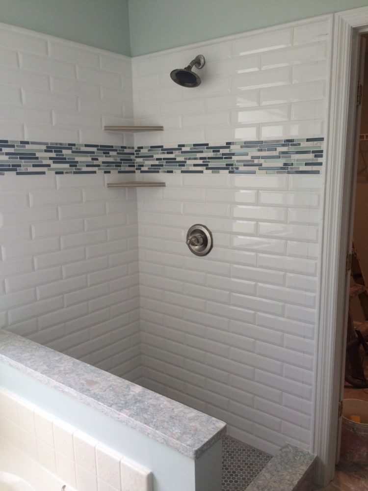 shower tile job cost