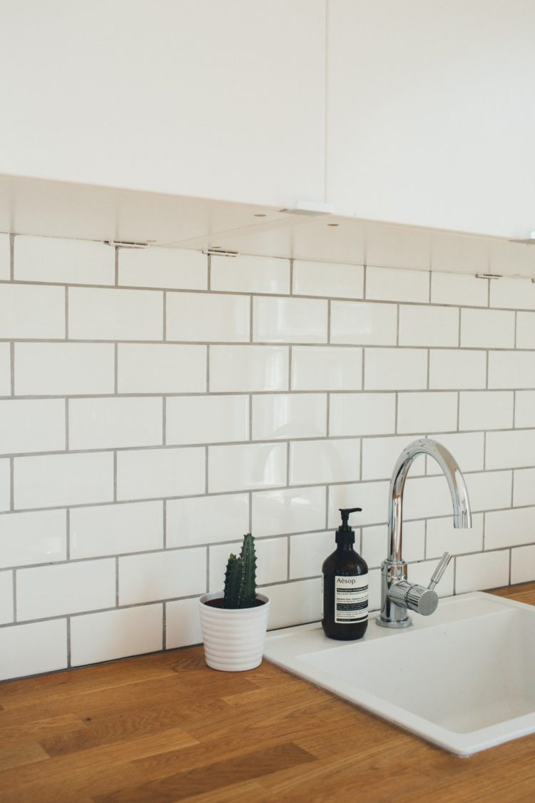 subway tile backsplash for white cabinets