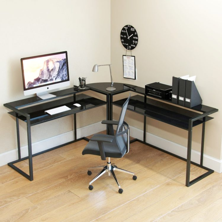 l shaped desk left return