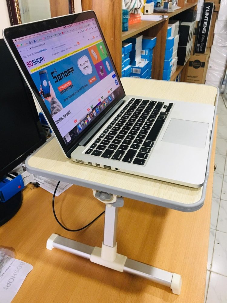 laptop table height adjustable