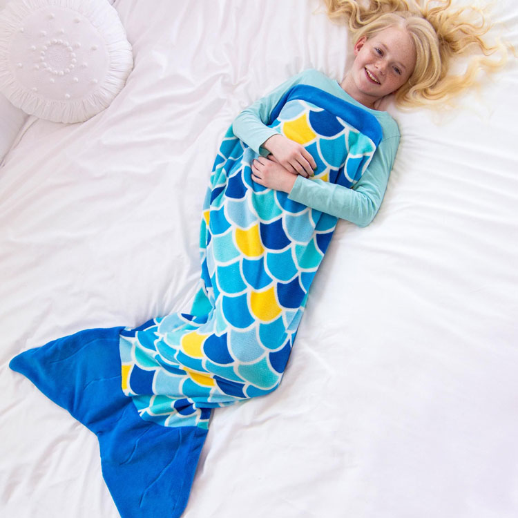 mermaid tail blanket for 2 year old