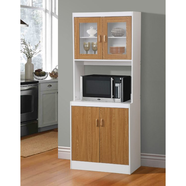 microwave stand hutch