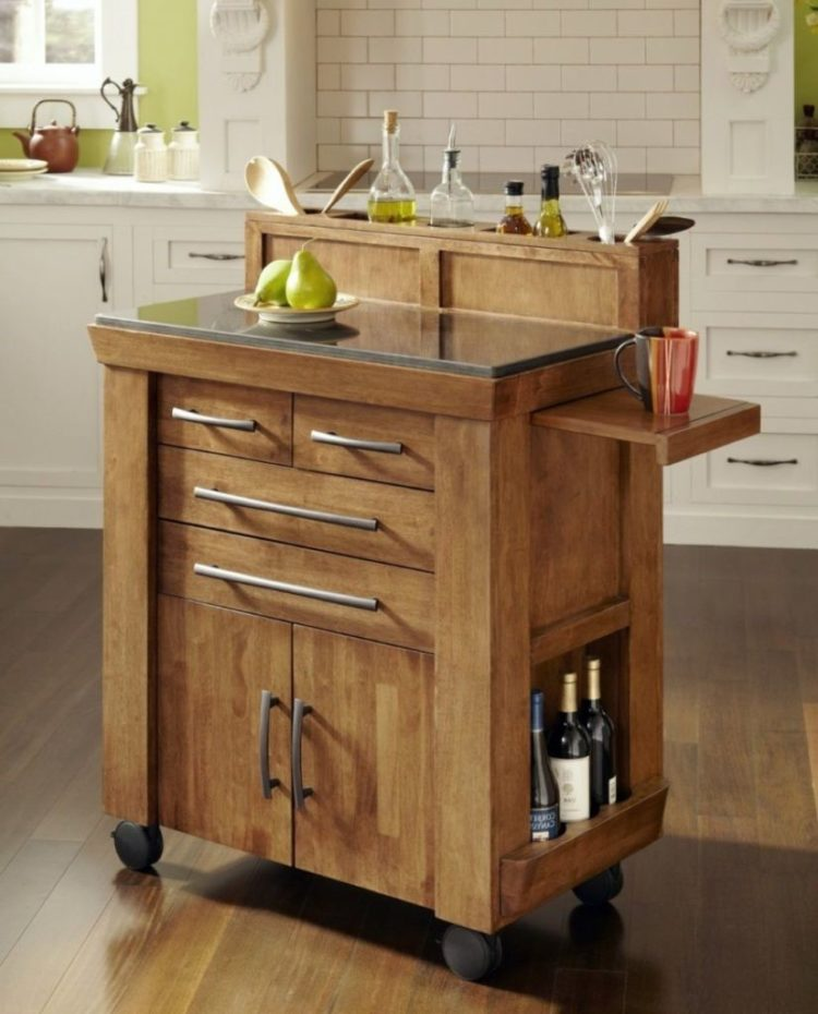 microwave stand rustic