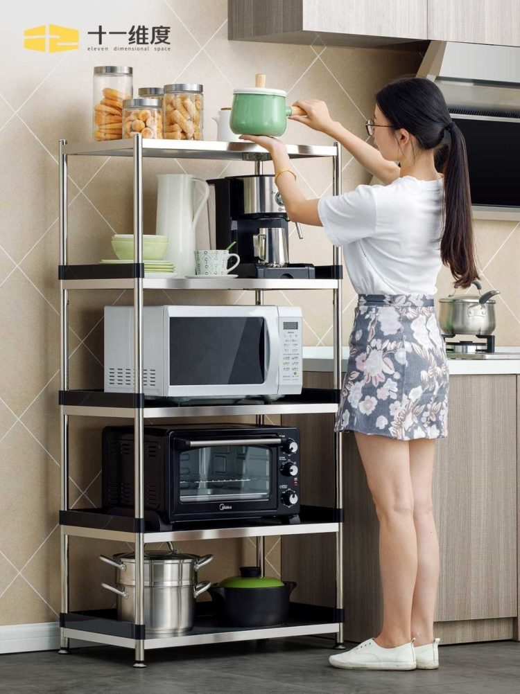 microwave stand storage cabinet