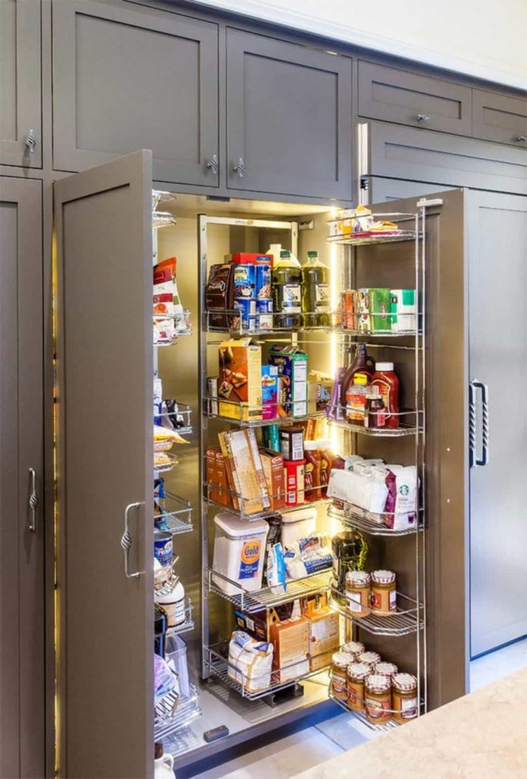 pantry cabinet layout