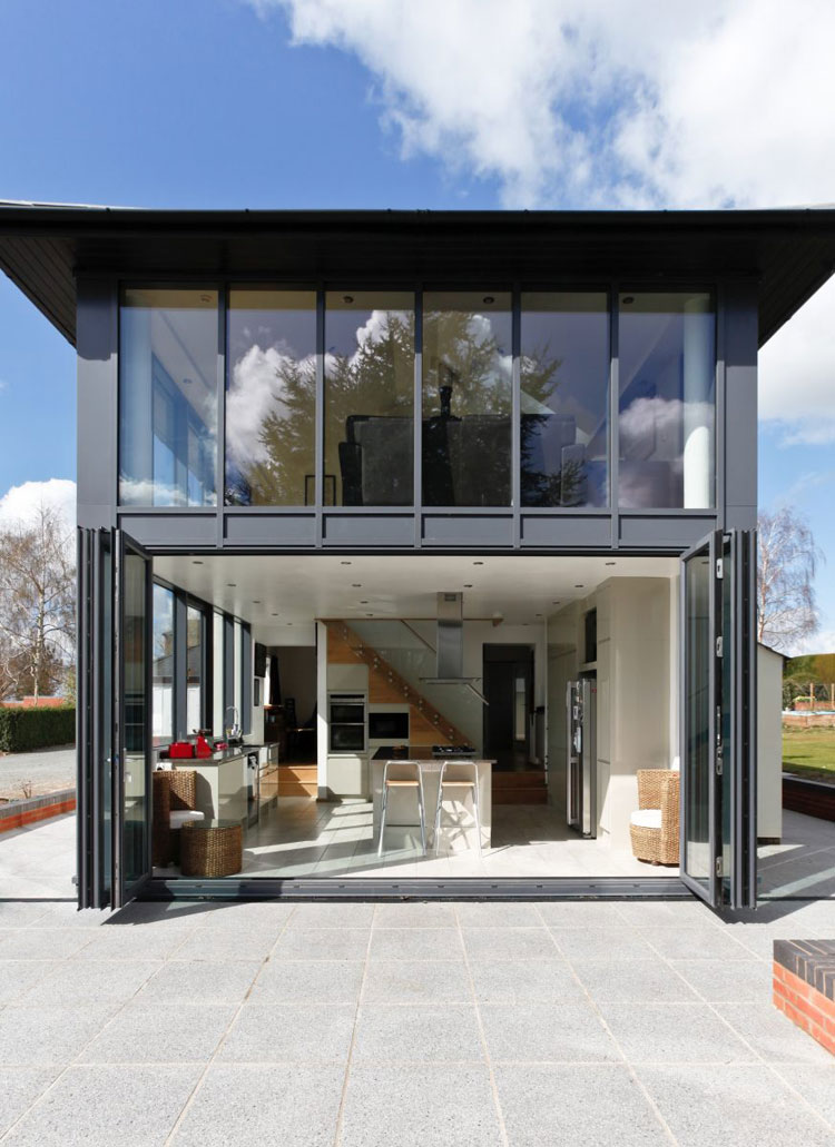 modern mansion entry