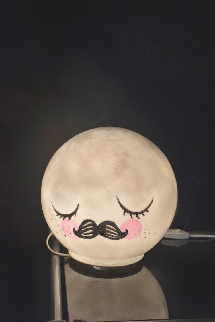 moon lamp for wall