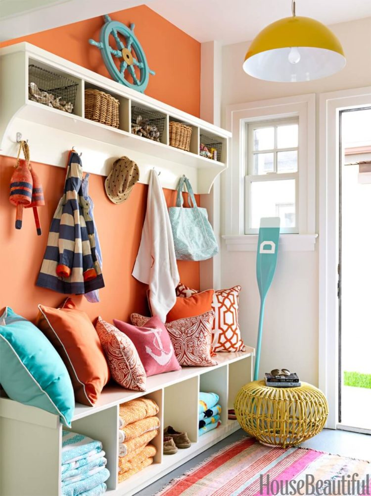 l shaped mudroom lockers