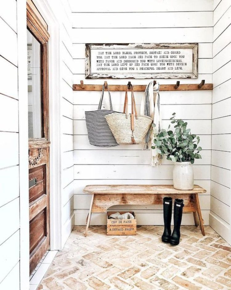 mudroom narrow hallway