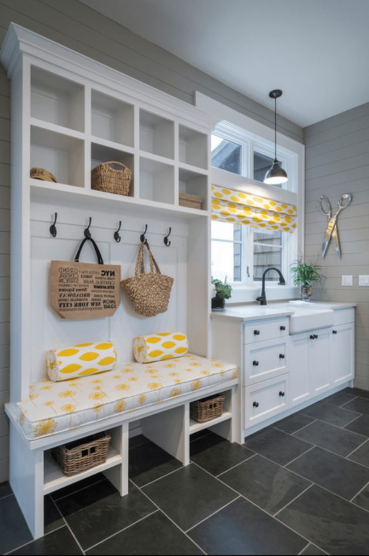mudroom on a budget