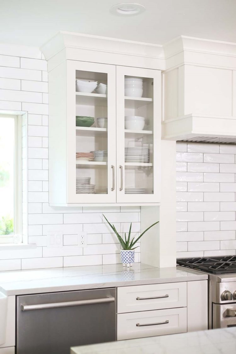 subway tile backsplash glass