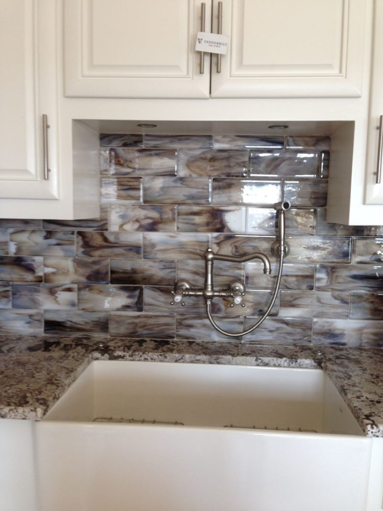 subway tile backsplash glossy or matte