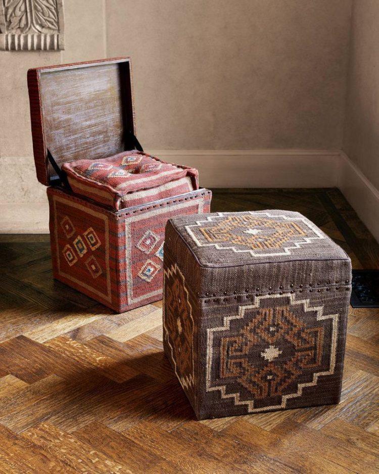 storage ottoman fabric
