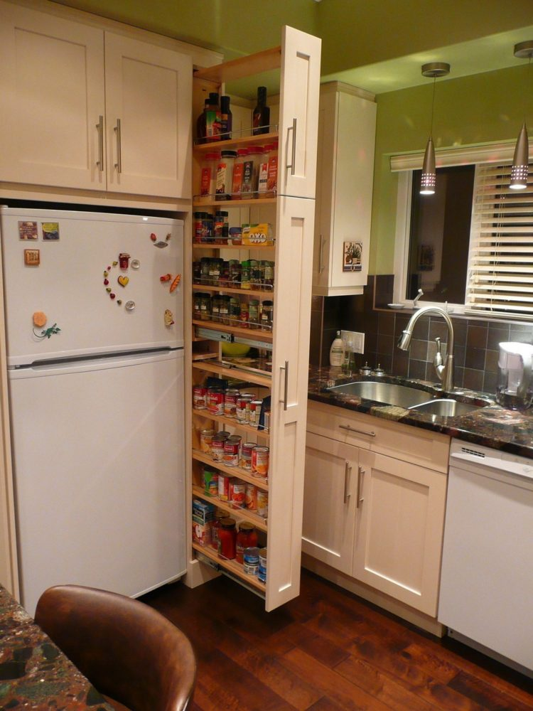 l shaped pantry cabinet