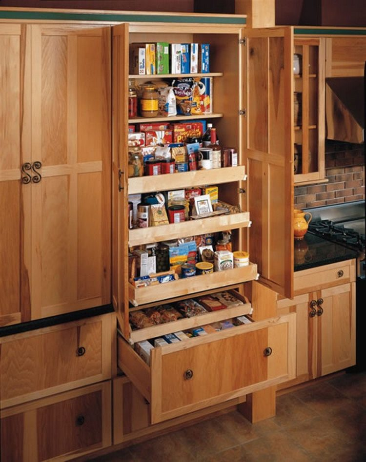 pantry cabinet gray