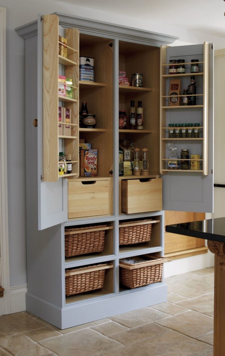 pantry cabinet in dining room