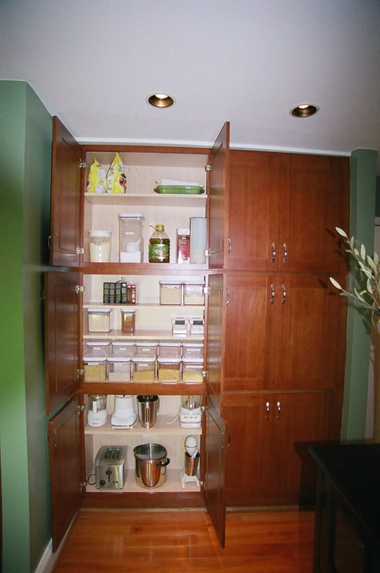 pantry cabinet in kitchen
