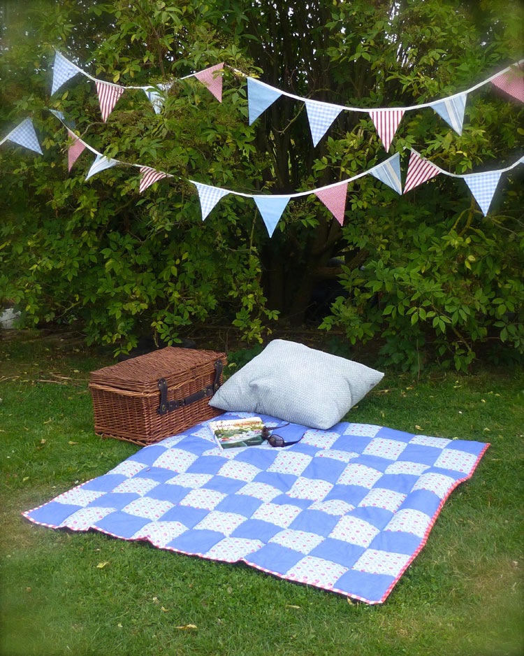 picnic blanket on grass