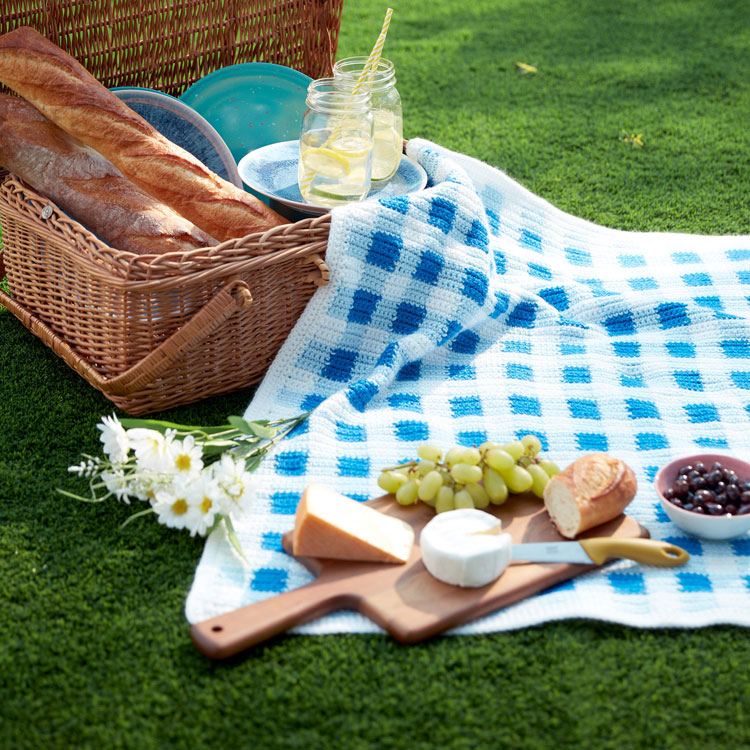 picnic blanket lined