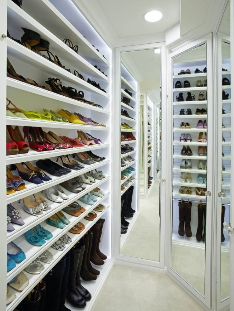 shoe cabinet gray