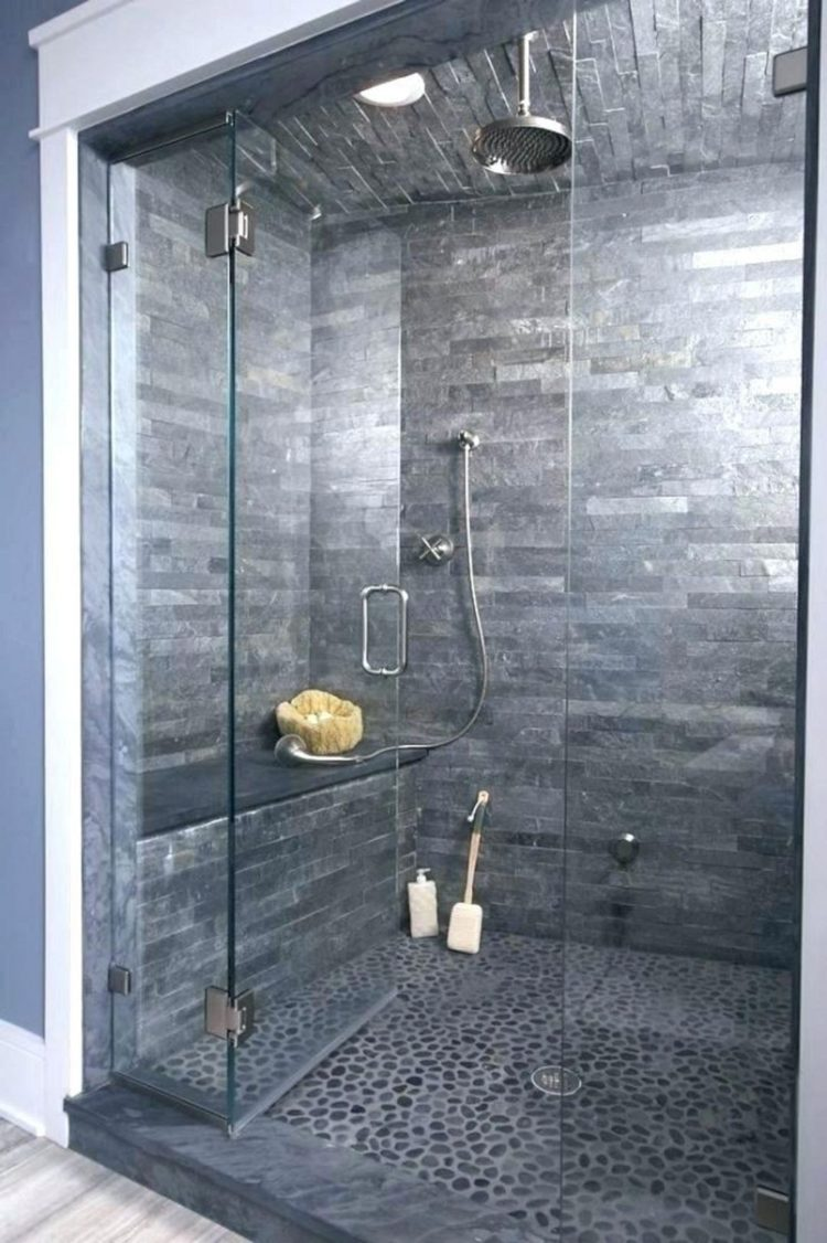 walk i tile shower