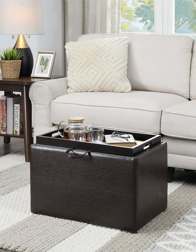 storage ottoman gas lift double bed