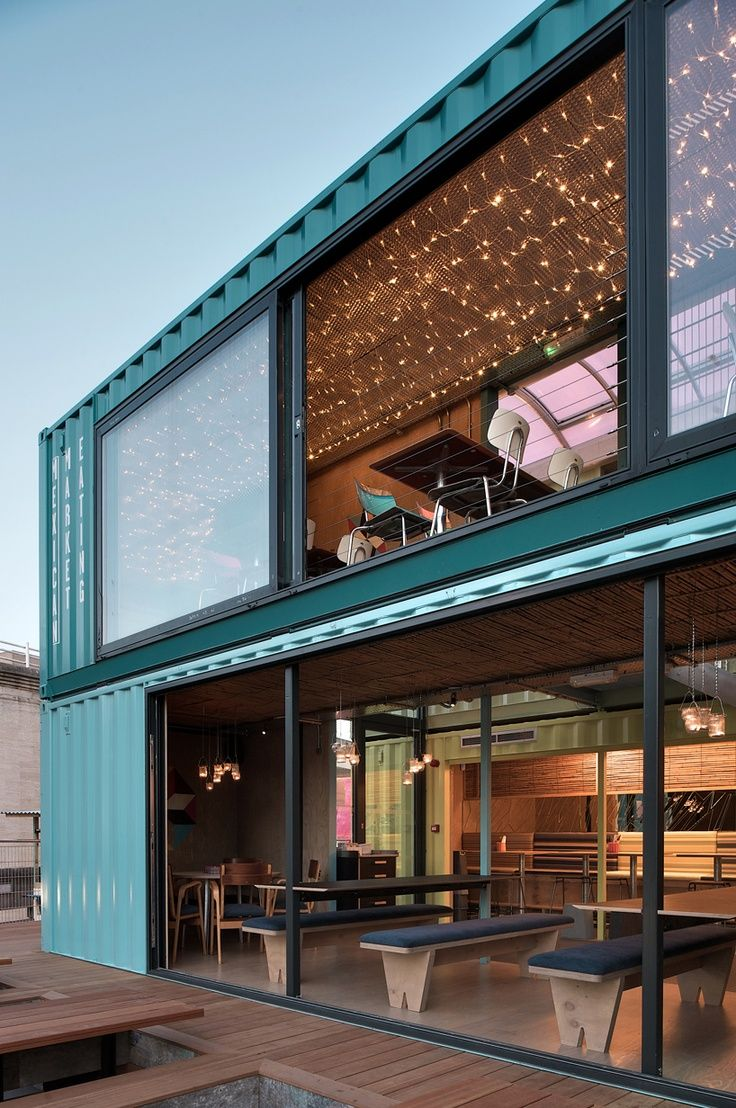 h shaped shipping container homes