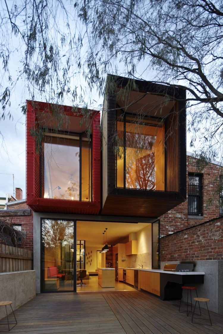 shipping container lean to
