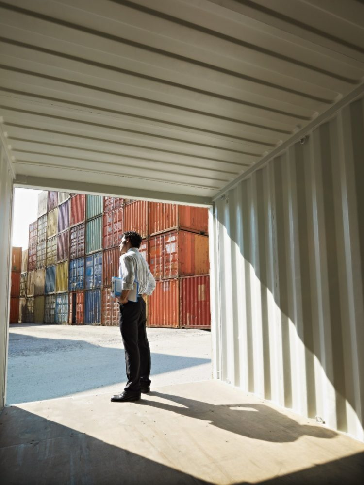 shipping container wall thickness