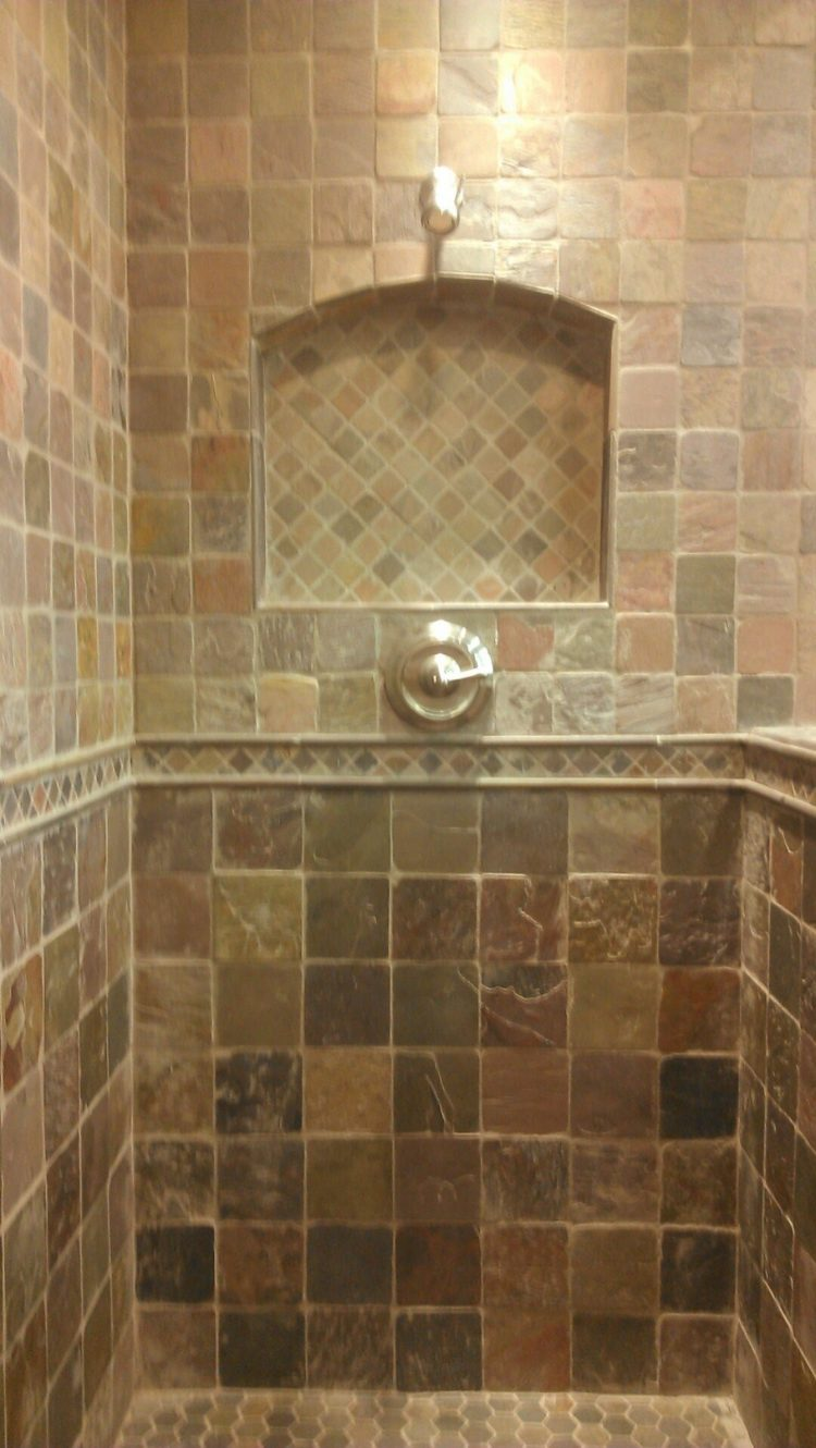 shower tile floor and decor