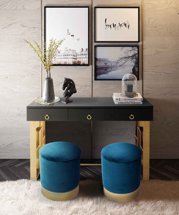 storage ottoman in turquoise