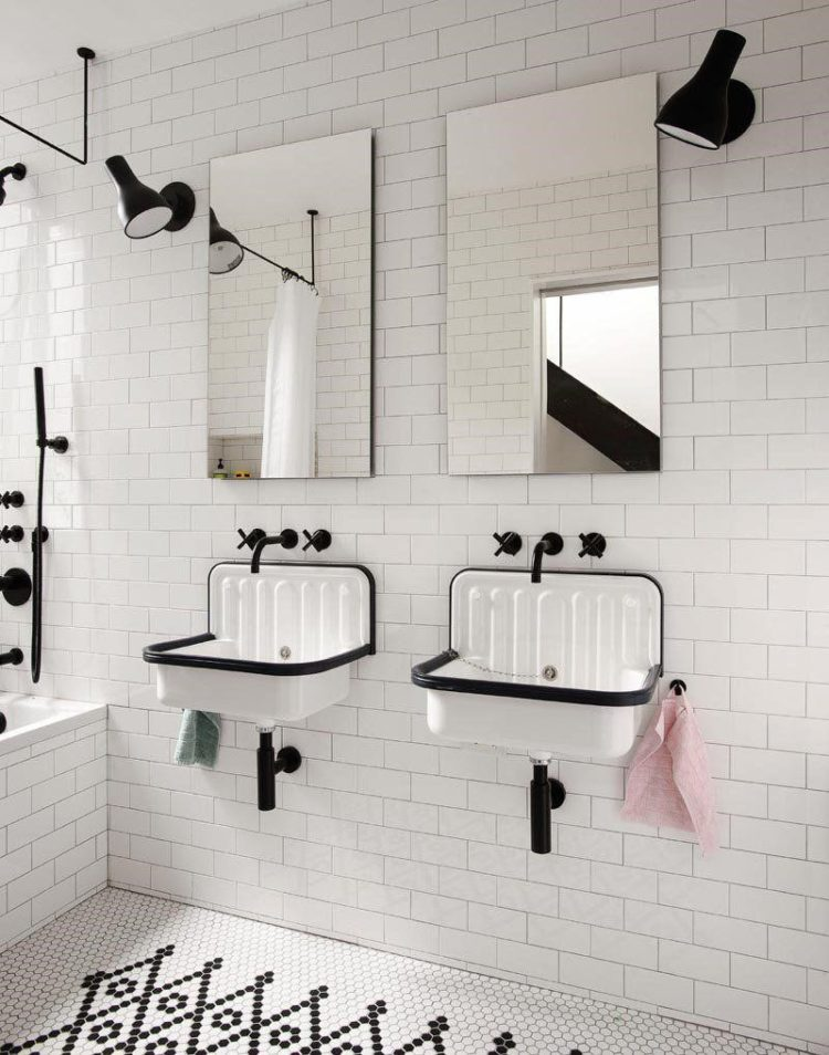 subway tile gray grout